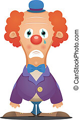 Sad Clown - Cartoon Character