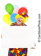 Sad Clown with Sign