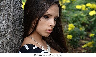 Sad Confused Teen Girl