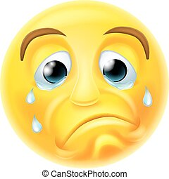 Sad Crying Emoji Emoticon