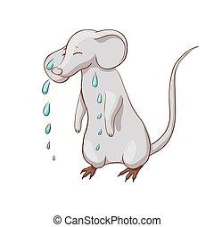 sad crying mouse