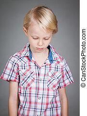 Sad cute boy