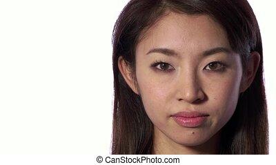 Sad Depressed Asian Japanese Woman