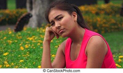 Sad Depressed Lonely Or Confused Female Teen
