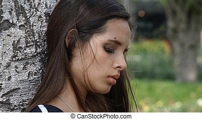 Sad Depressed Teen Girl