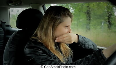 sad despaired woman crying