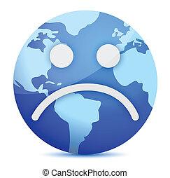 sad Earth globe