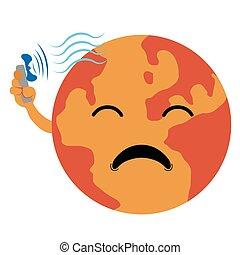 Sad earth image