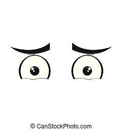 Sad eyes cartoon