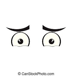 Isolated sad eyes cartoon. Vector illustration design