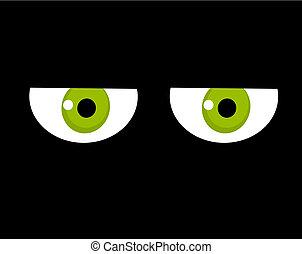 Sad looking green eyes