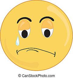 Sad face - Smiley type sad face