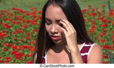 Sad Female Teen Crying