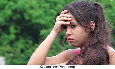 Sad Female Teen