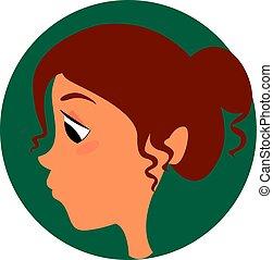 Sad girl, illustration, vector on white background.