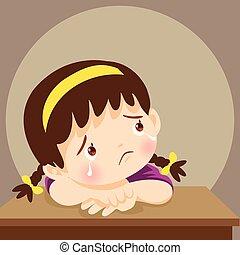 sad girl need comforting - sad children wants to embrace. ...