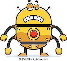 Sad Gold Robot