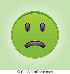 Sad green smiley