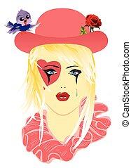 Sad Harlequin hat,