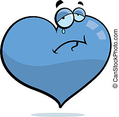 Sad Heart - A cartoon heart with a sad expression.
