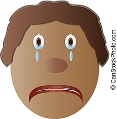 Sad Icon - A face icon indicating something sad and...