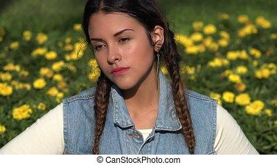 Sad Lonely Teen Girl