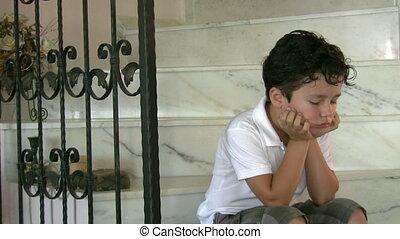 Sad lonly child
