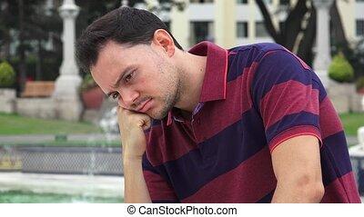 Sad Man At Park