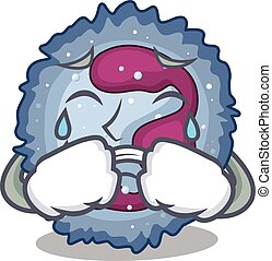 Sad of neutrophil cell cartoon mascot style. Vector ...