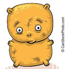Sad old teddy bear