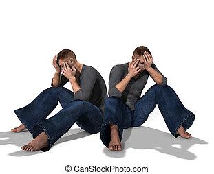 Sad Pair Of Men 5