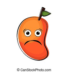 Sad peach cartoon character emote