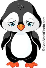 Sad Penguin  - Illustration of sad baby penguin