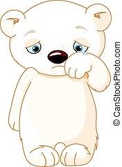 Sad Polar Bear  - Illustration of sad polar bear