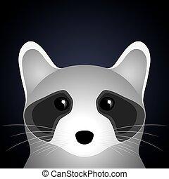 Sad raccoon.