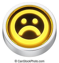 Sad round icon