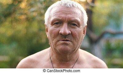 Sad Rural aged man