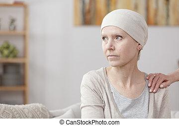 Sad sick woman