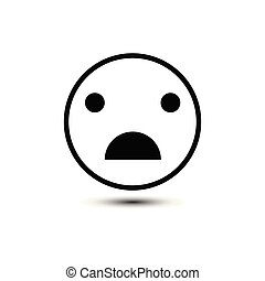 Sad Smiley vector pictogram. Illustration style is a flat...