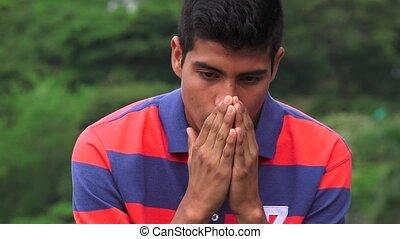 Sad Teen Boy Full Of Sorrow