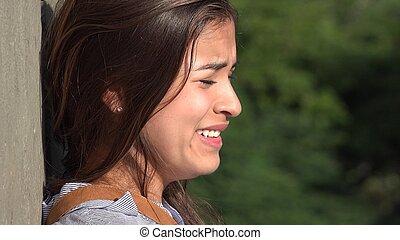 Sad Teen Girl Crying