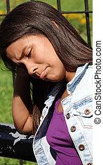 Sad Teen Unhappy Girl