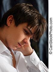 Sad Teenager - Sad and Sorrowful teenager portrait closeup