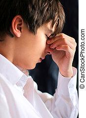 sad teenager