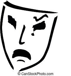 sad theatre mask