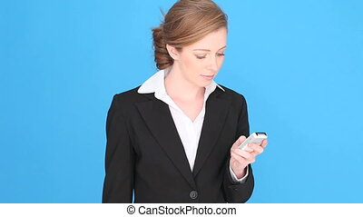 Sad Thoughtful Businesswoman