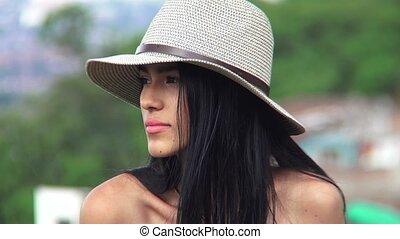 Sad Unhappy Hispanic Teen Girl