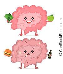 Sad unhealthy sick Intestine vector - Sad unhealthy sick ...
