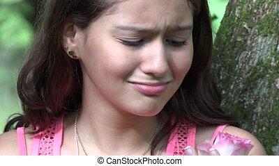 Sad Unloved Pretty Teen Girl
