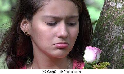 Sad Unloved Teen Girl